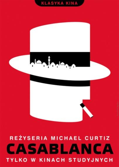 Polish film poster for Casablanca.
