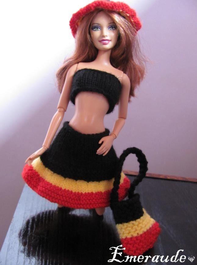 Tricot: Tenue de fête nationale belge pour Barbie