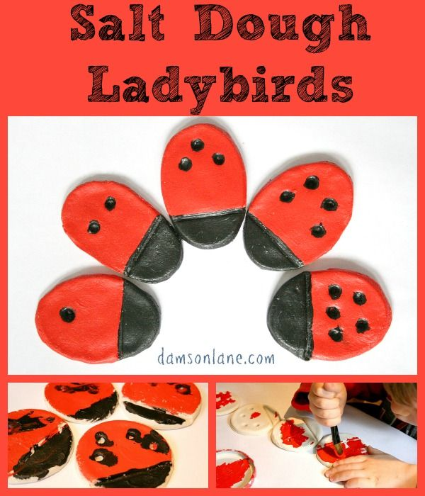 Salt Dough Ladybird Kids Craft on Damson Lane