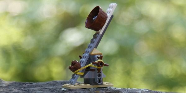 Lego Catapult - Kids Activities Blog. Use with Apologia Chemistry and Physics #homeschool science
