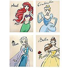 image of disney princess fashionista wall dcor collection