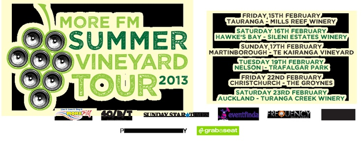 MoreFM Summer Vineyard Tour, February