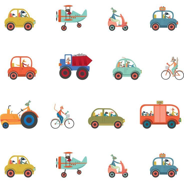 Vos petits sont fans de voitures en tout genre ? Laissez donc cette frise depapier peint habiller les murs de leur chambre ! Avec son design épuré et ses belles couleurs, il animera la décoration de la pièce pour le plus grand plaisir de vos enfants. En plus, avec son dos préencollé, sa pose est facile et rapide ! Ça c'est chouette ! Format du lé: 0,53 x 3 m