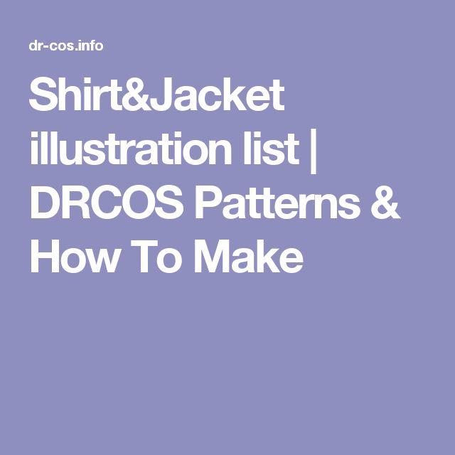 Shirt&Jacket illustration list   DRCOS Patterns & How To Make