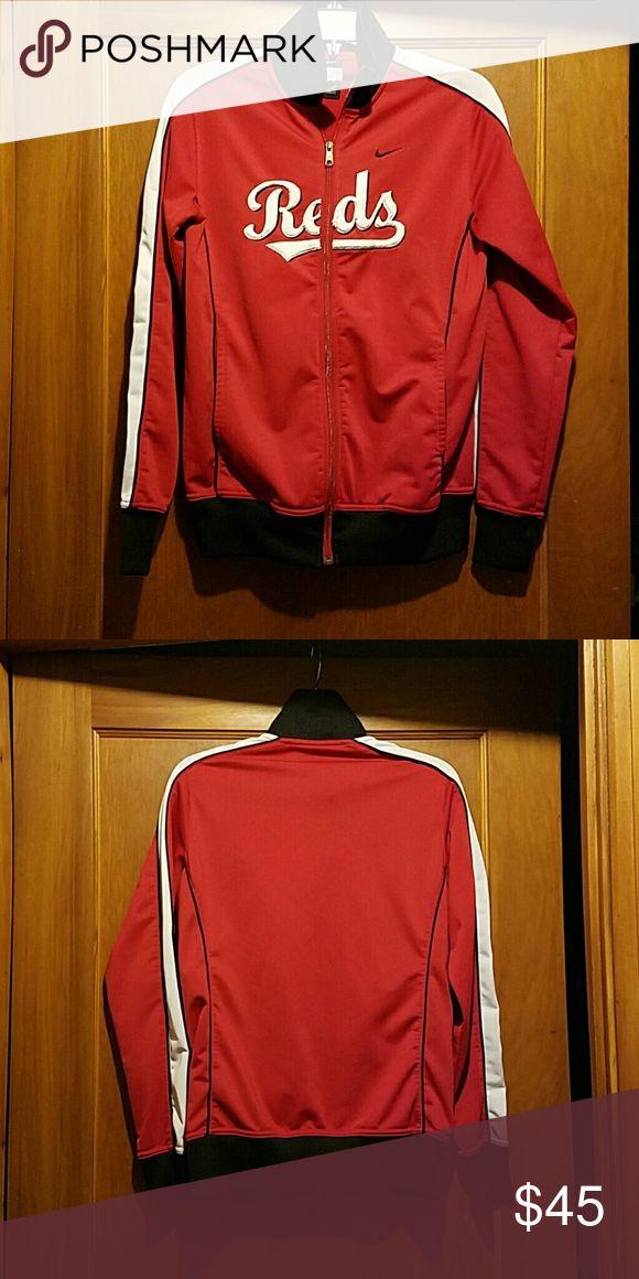 Nike Cincinnati Reds jacket Gently used Cincinnati Reds Nike jacket. Size large but fits more like a medium Nike Jackets & Coats