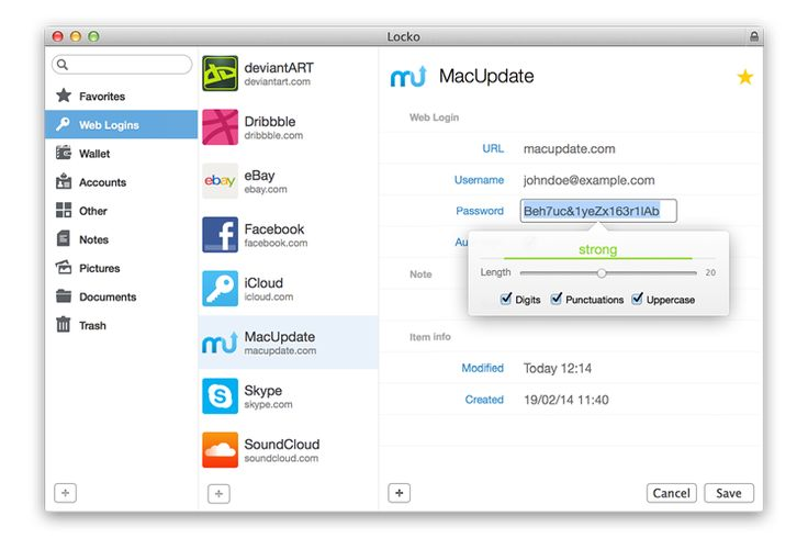 Locko - Password manager and file vault