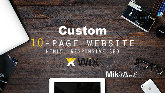 Wix Website  Custom website design 10-page  HTML5 SEO by MikMark