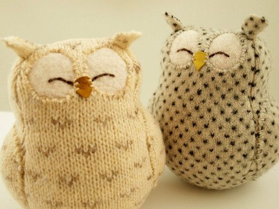 Made from old sweaters.