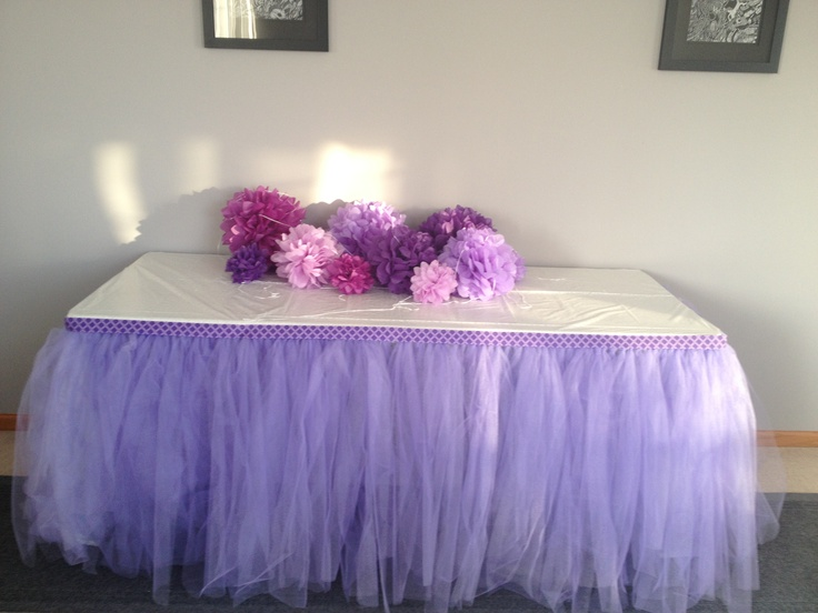 Purple Tulle Skirt Using 250 Yards Of Tulle Tie Around