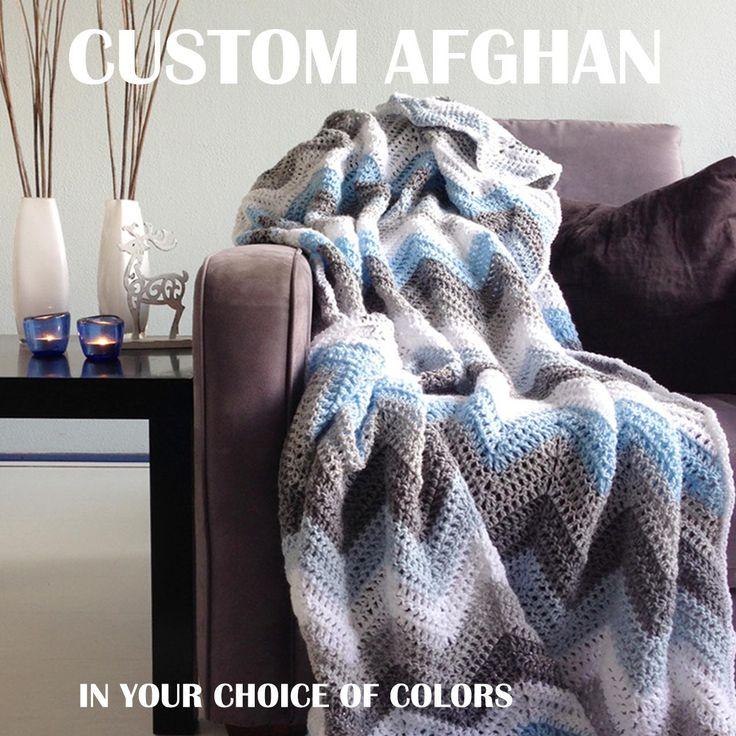 🏨 Cobertor Personalizado Zig Zag Afegão Única Viga -  /  🏨 Custom Afghan Zig Zag Blanket Unique Chevron -