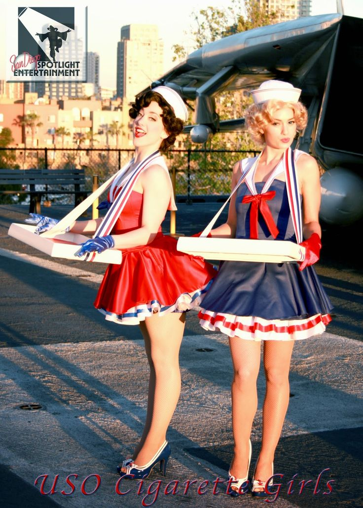Classic Cigarette Girls by San Diego Spotlight Entertainment Our Vintage Cigarette Girls made quite an impact on this USO themed even...