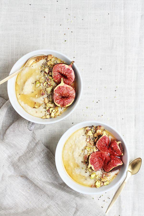 roasted fig + honey millet porridge