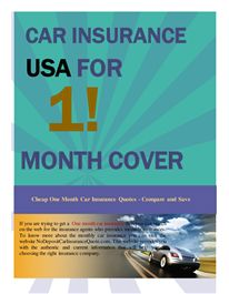 Find cheap one month car insurance deals side by side & compare 1 month car insurance policies that give you 28 day or 30 days of cheap monthly car insurance