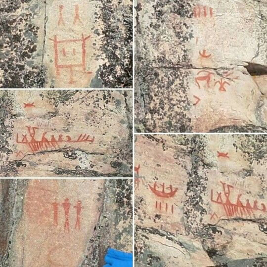 Paimusk Creek Petroglyphs in the Norway House resource area. Photos taken by Vernon Monias. October 2015.