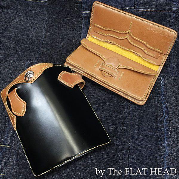 Rakuten: THE FLAT HEAD FSC-85C long wallet cordovan leather blk/brw/ylw [weak yen]- Shopping Japanese products from Japan