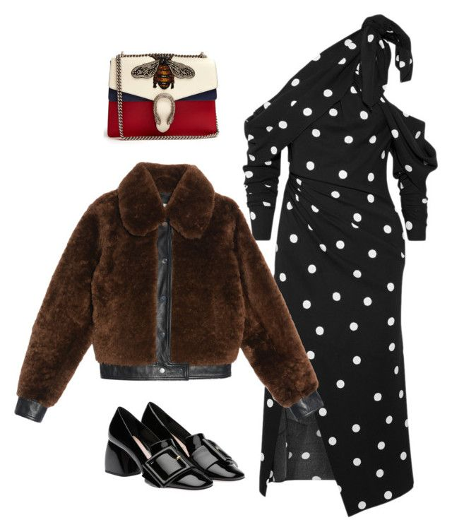 """Untitled #703"" by szudi on Polyvore featuring Monse, Sandro, Miu Miu and Gucci"