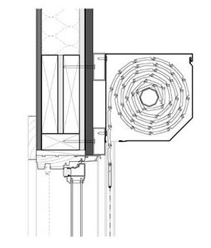 detail: metal shutter