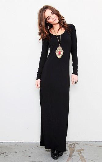 Splendid long sleeve maxi dress