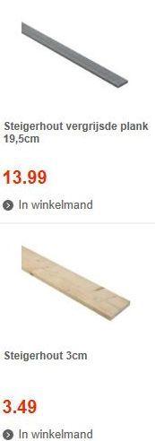 Steigerplanken van vergrijsd hout bij de #praxis bouwmarkt.