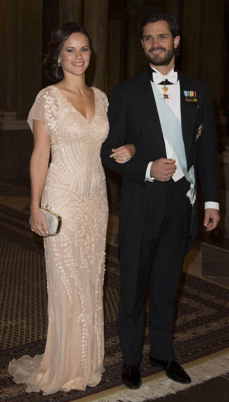The royal family attended a gala dinner at the Royal Palace in Stockholm in the presence of the winners of the Nobel Prize in 2014.