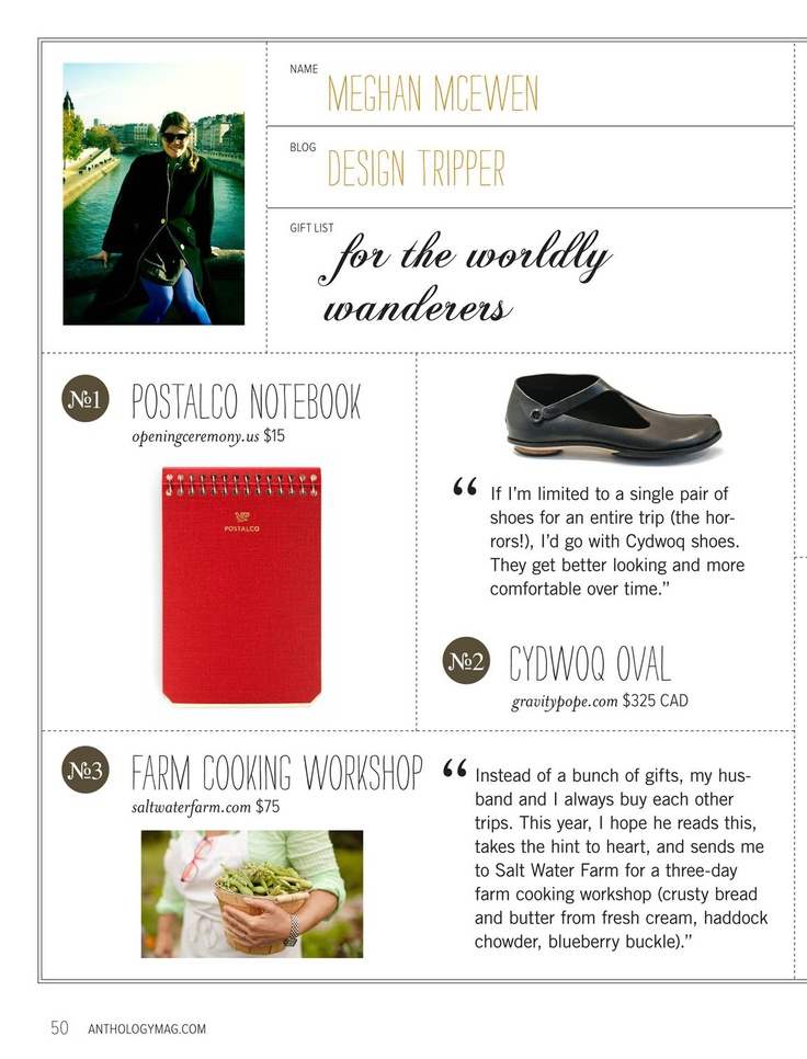 Anthology - 2011 Winter Gift Guide - Page 50