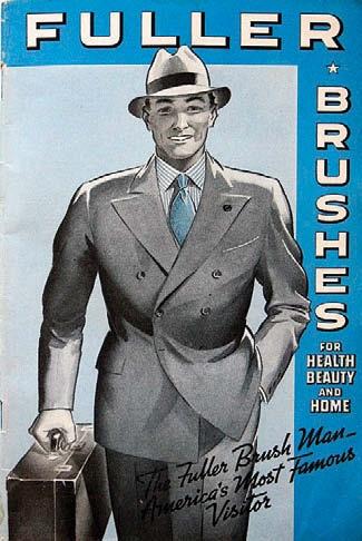 The Fuller Brush Man sold household items door to door. Loved the day he was in our neighborhood.