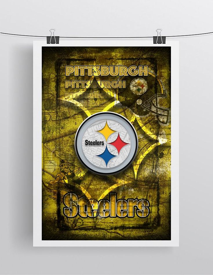 Pittsburgh Steelers Football Poster, Pittsburgh Steeler Gift, Pittsburgh Steelers Man Cave Poster