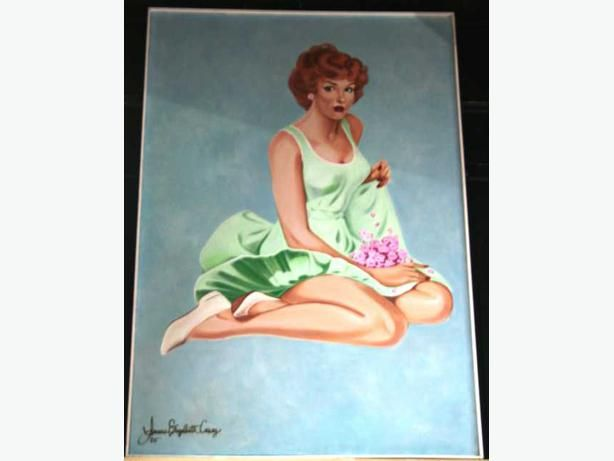 1950's Pinup Retro Style HUGE Paintings #yyj #shoplocal #1950 #pinup #retro #art