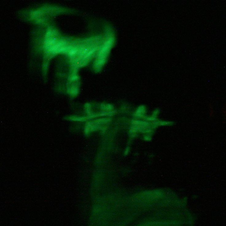 Still on the long exposure train but with a twist. I painted my face with glow in the dark paint, and captured the results. This took about 3 minutes. Part 1
