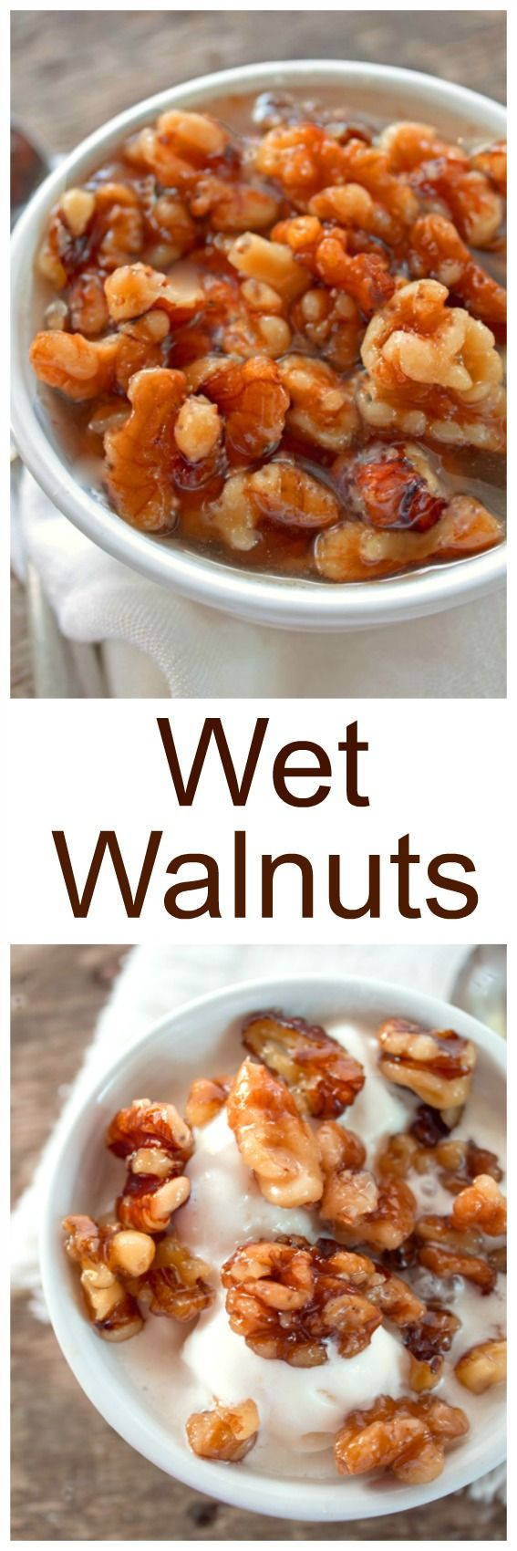 Wet Walnuts... A delicious homemade walnut topping you can use on ice cream, pancakes, french toast or bread pudding.
