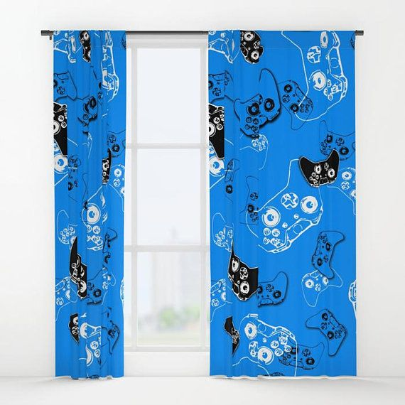 Gamer Curtains, Boys Curtains, Gamer Gifts, Video Game Decor, Gamer Room Window Curtain, Gaming Deco