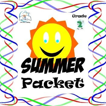 2nd Grade Summer Packet. This is a summer packet for students entering Grade 3. Practice during the summer is an important way to reinforce ideas and concepts learned during the past school year.   This 2nd Grade Summer Packet includes: #1 - student cover sheet  #2 - reading passages and comprehension questions  #3 - summer word puzzle  #4 - summer word search  #5 - post card - activity for summer reading  #6 - collage book report - activity for summer reading  #7 - July math calendar…