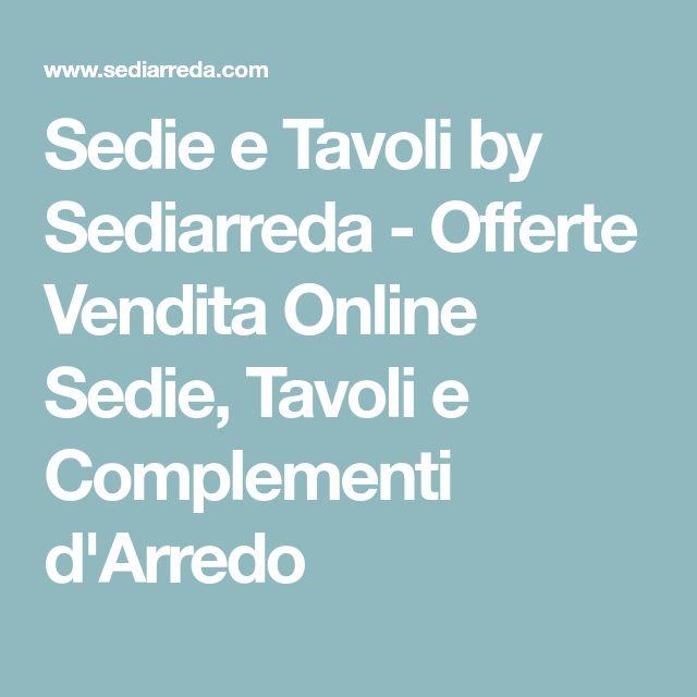 Sedie e Tavoli by Sediarreda - Offerte Vendita Online Sedie, Tavoli e Complementi d'Arredo