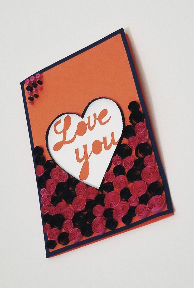 12 best quilled greeting cards images on pinterest greeting cards included quilled pink and navy blue paper swirls make this valentines day a special one with these greeting cards kristyandbryce Images