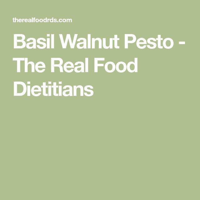 Basil Walnut Pesto - The Real Food Dietitians