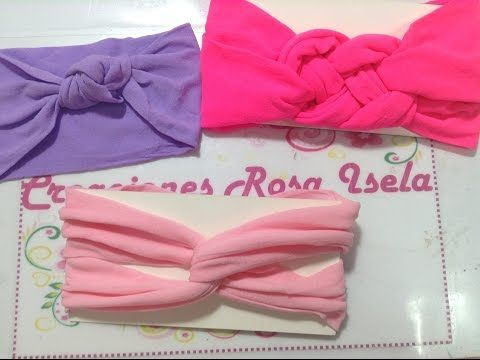 Tutorial #5 - Como hacer Diademas de Tela - How to make a headband fabric - YouTube