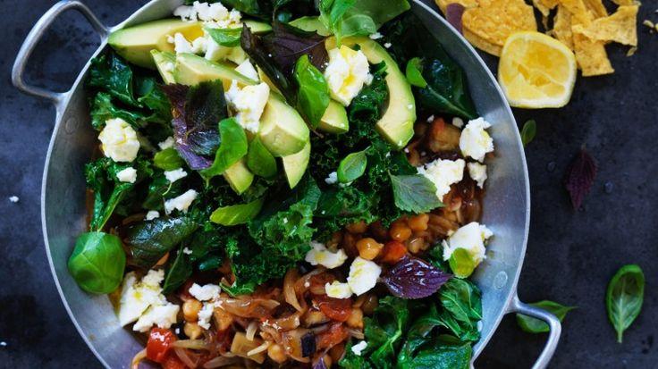 Smoky chickpea, eggplant and tomato one-pot casserole taco filling recipe