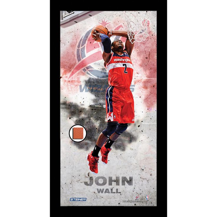 John Wall Player Profile Framed 10x20 Photo Collage w/ Game Used Basketball