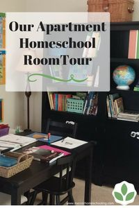 Homeschooling in a small space - our apartment homeschool room tour.
