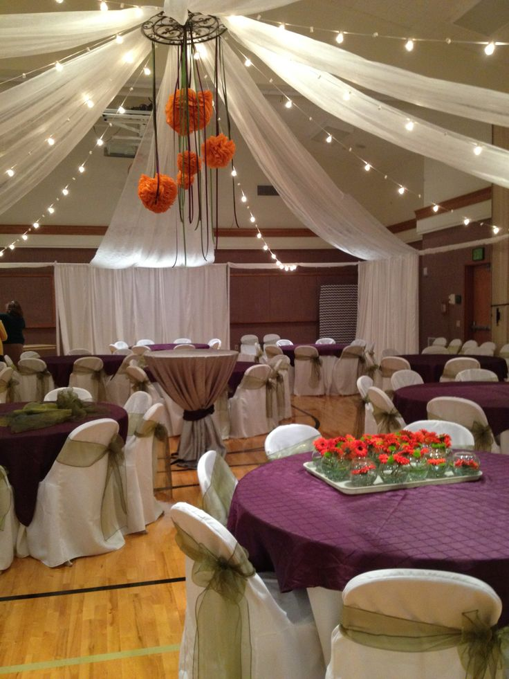 9 best cultural hall gym wedding receptions images on for Wedding hall decoration photos