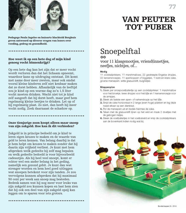 ISSUU - Boodschappen editie 06 - 2014 by Indicia; traktatie snoepelftal (zure matjes ipv Engelse drop)