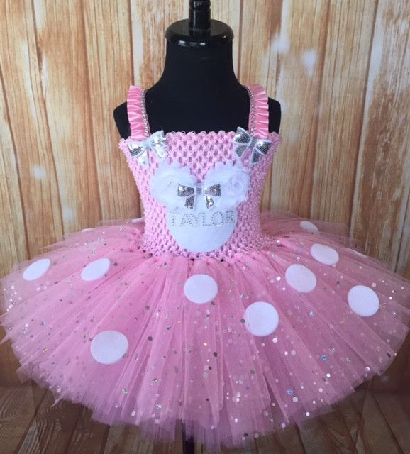 Minnie Mouse Birthday Tutu Dress Personalized with your childs name