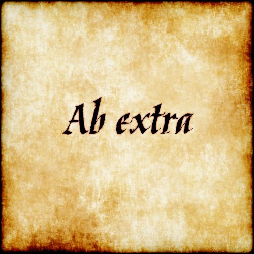 """Ab Extra - """"from beyond"""""""