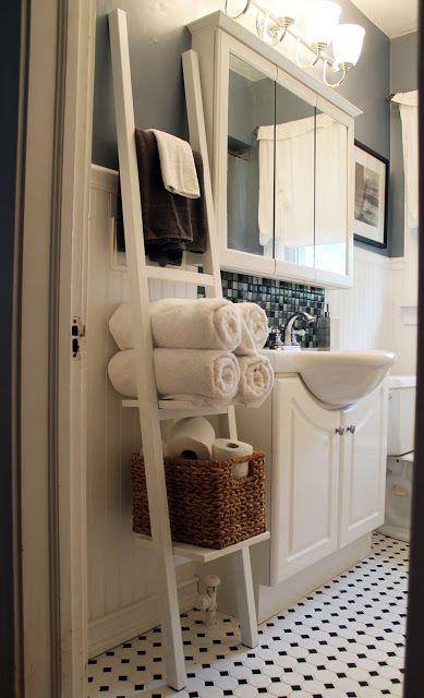 The 25 best Bathroom towel storage ideas on Pinterest