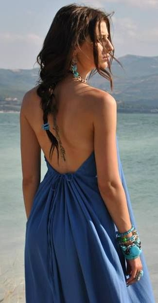 bohemian rag dress