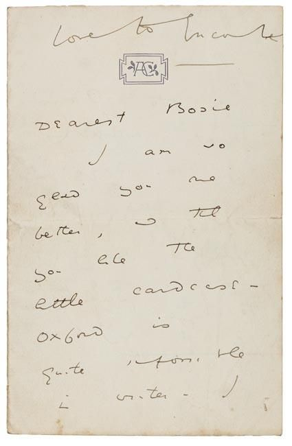 The earliest surviving letter from Oscar Wilde's passionate and tragic relationship with Lord Alfred Douglas