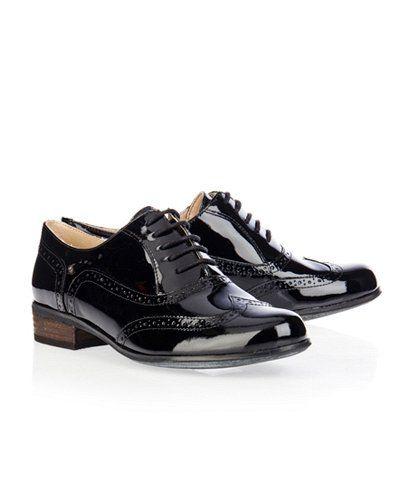 Zapatos Clarks Hamble Oak Negro Charolado en Nice & Crazy