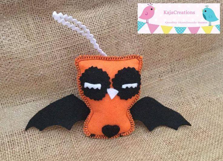 Handmade by KajaCreations. Little Halloween bat. For more information, please visit https://www.facebook.com/HandmadeMarkets