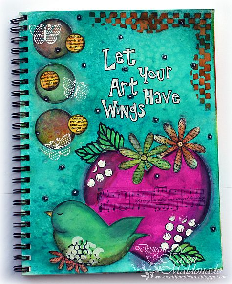 Real Life in Pictures: Art Journaling - Let Your ART have Wings!!