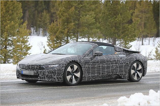 BMW i8 Spyder als Erlkönig erwischt: So kommt der Hybrid-Roadster
